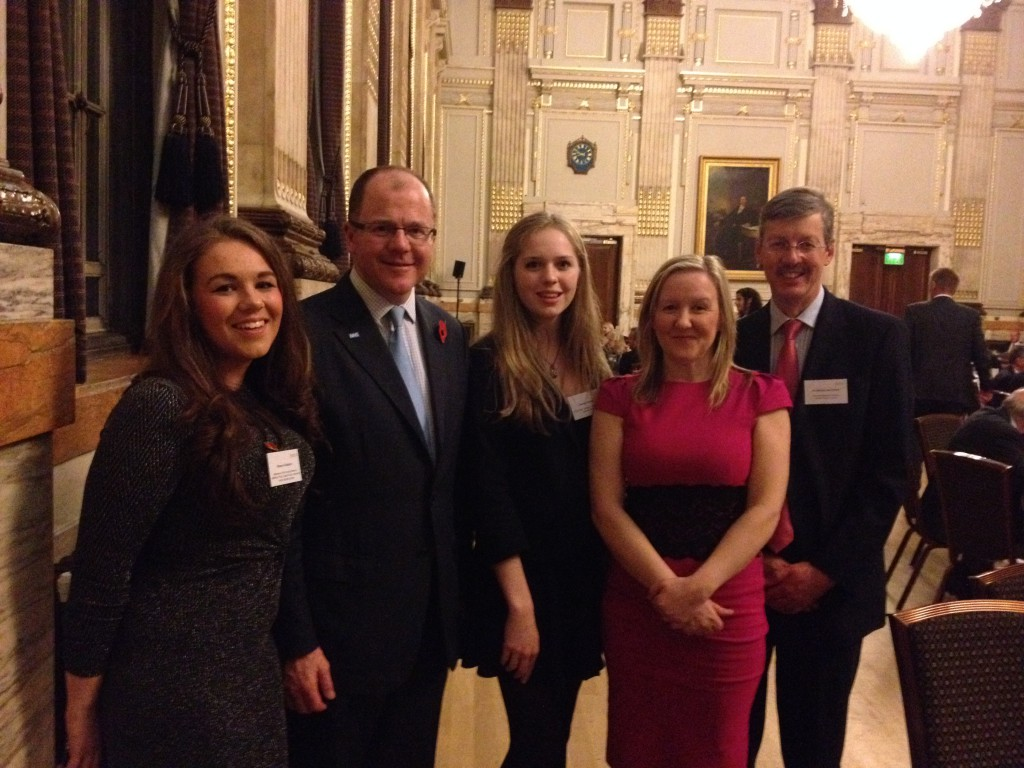 photograph of young people at the reception