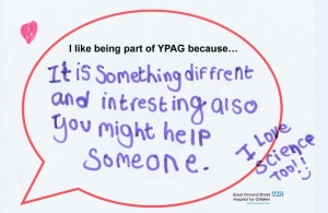 Speech bubble YPAG